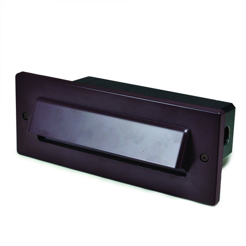 4W LED Brick Step Light w/ Horizontal Shroud (3 Finish Choices) Outdoor Nora Lighting White