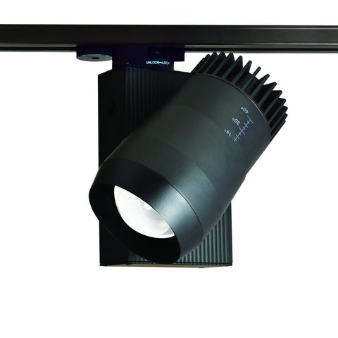 25W Flex Beam LED Track Fixture, 4200K, Silver, H-Style