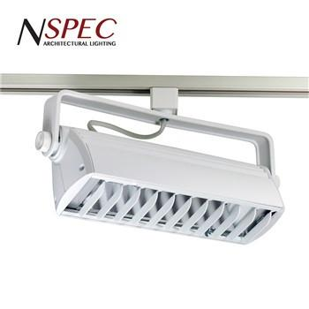 "24"" T-Wash Wall Wash LED Track Fixture for Halo - 3 Finish Options Tracks Nora Lighting White"