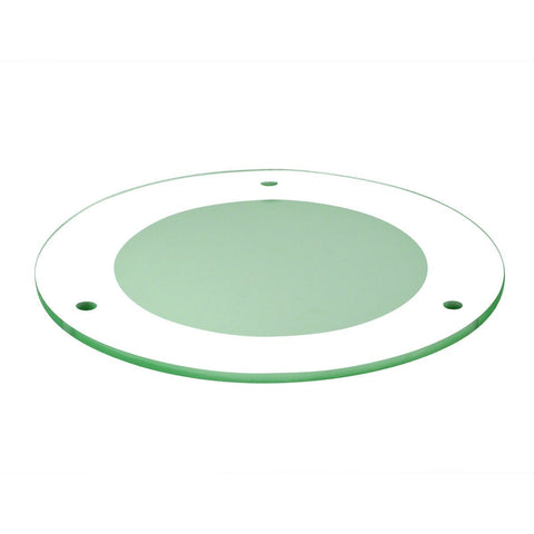 "4"" Tempered Frosted Center, Clear Outer"