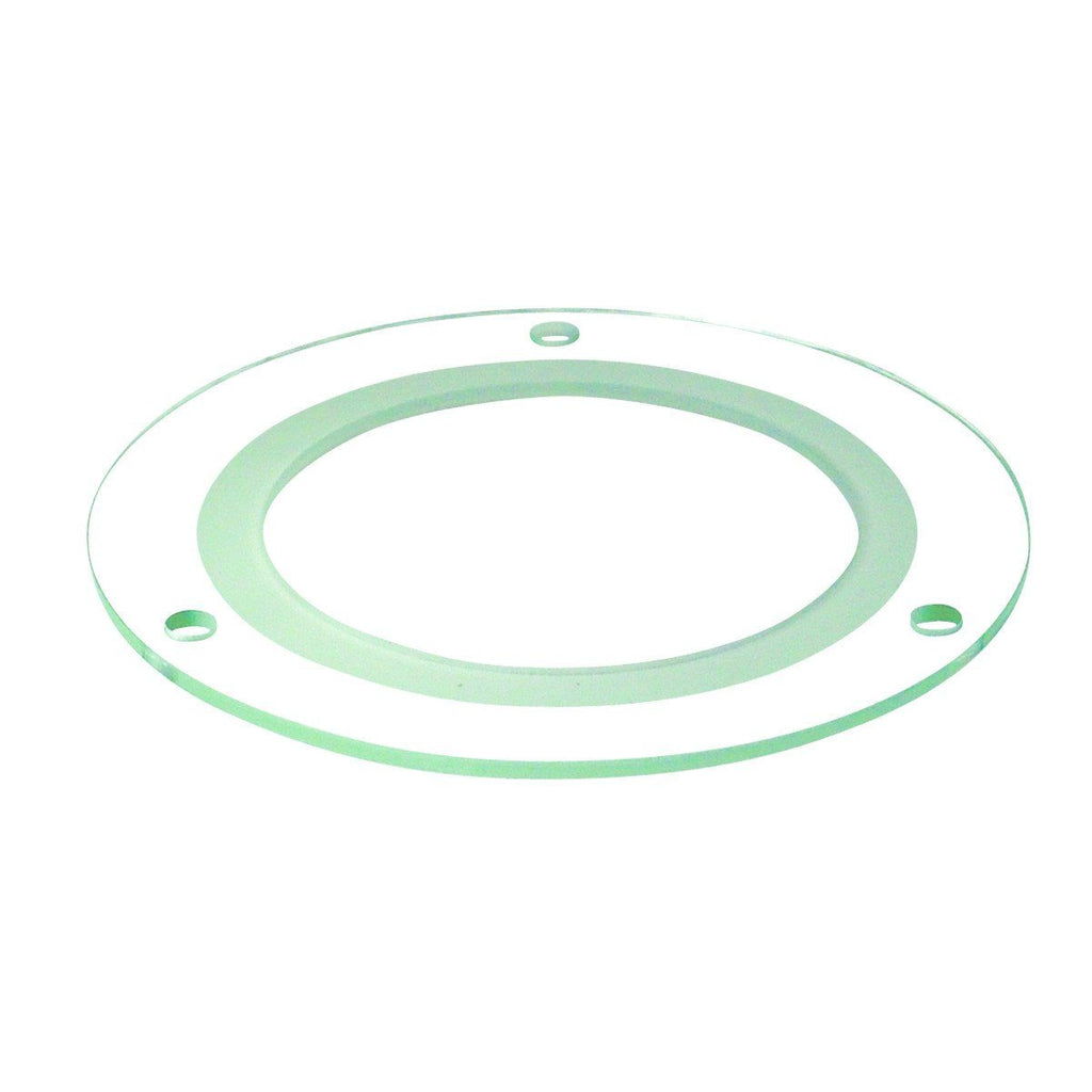 "4"" Tempered Frosted Center, Clear Outer, 3.125"" Open Recessed Nora Lighting"