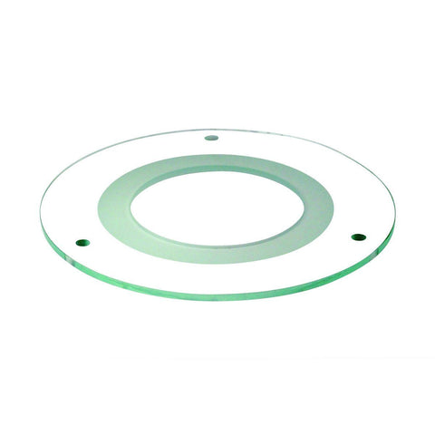 "5"" Tempered Clear Glass w/ Frosted Center, and 3-1/8"" Open Center Recessed Nora Lighting"
