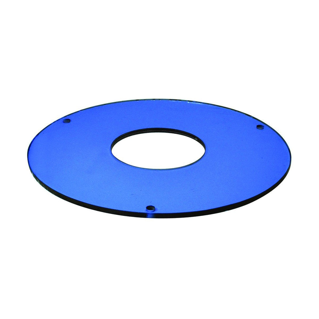 "6"" Tempered Blue Glass w/ 4-3/4"" Open Center Recessed Nora Lighting"