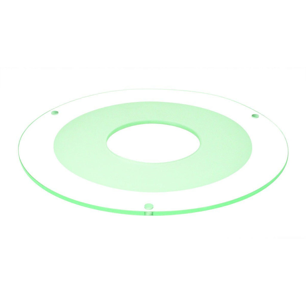 "8"" Tempered Frosted Center, Clear Outer, 3-1/8"" Open"