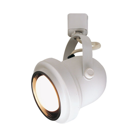 Classic Cylinder, White with Black Baffle, H-Style Tracks Nora Lighting