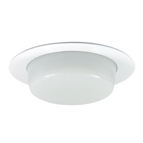 "4"" Recessed Trim - Drop Opal Lens, Specular Clear Reflector, White Ring Recessed Nora Lighting"