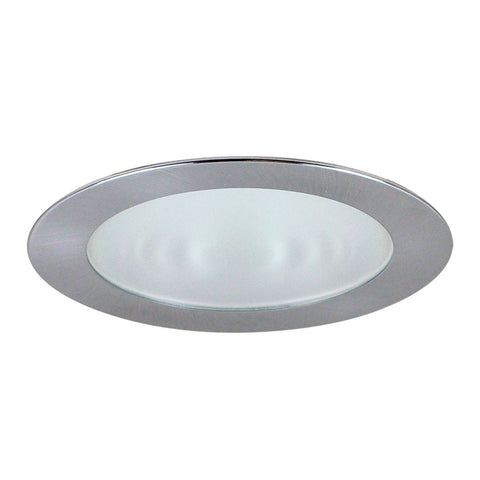 "4"" Recessed Trim - Frosted Flat Lens, Specular Clear Reflector, Natural Metal Ring"