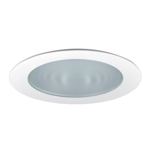 "4"" Recessed Trim - Frosted Flat Lens, Specular Clear Reflector, Chrome Ring Recessed Nora Lighting Chrome"