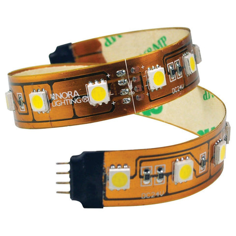 "12"" 24V Damp Label Hy-Brite Section LED Tape Light, 3000K CCT"