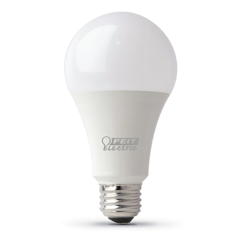 LED A21 100W Equiv., 1600 Lumens, Dimmable, 25000 Life Hours, 3000K, 2Pk, CEC Compliant Bulbs Feit Electric