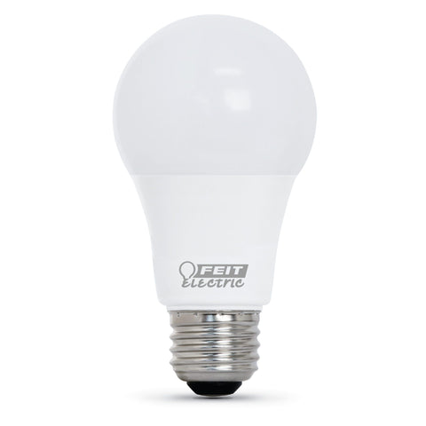 LED A19 40W Equiv., 450 Lumens, 25000 Life Hours, 2700K, 4PK Bulbs Feit Electric