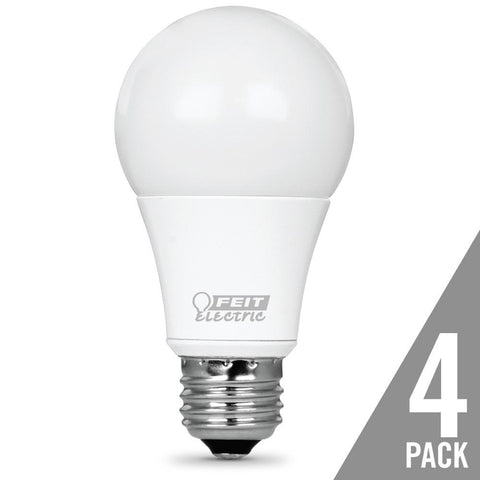 A19 40 Watt Equiv., Dimmable LED, Omni, 500 Lumen, 4 Pk