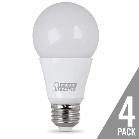 A19 40 Watt Equiv., Dimmable, LED, Omni, 450 Lumen, 5000K, 4 Pk