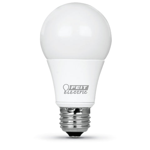 LED A19 60W Equiv., 800 Lumens, Dimmable, 2700K, 3 PK Bulbs Feit Electric