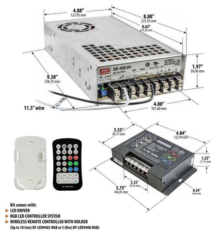 Remote Kit for Dabmar DF-LED9400 Series Multi Sign-Light Control Outdoor Dabmar