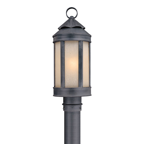 Andersons Forge 1 Light Post Lantern Medium - Antique Iron