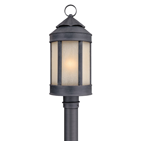 Andersons Forge 1 Light Post Lantern Large - Antique Iron
