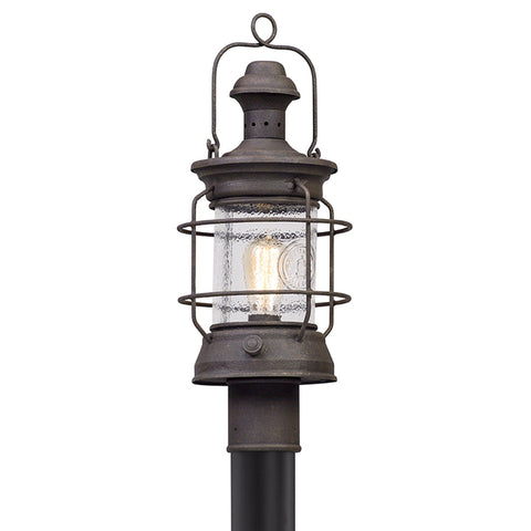 Atkins 1 Light Post Lantern Medium - Centennial Rust
