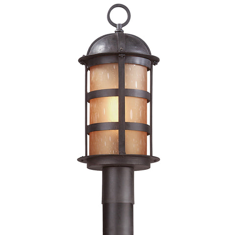 Aspen 1 Light Post Lantern Large - Natural Bronze