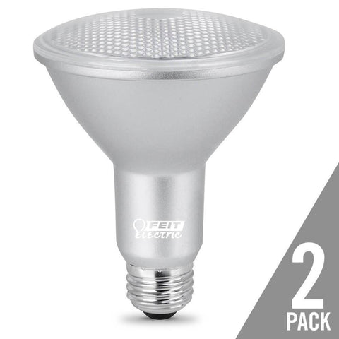 Feit Electric PAR30 Dimmable LED, Long Neck Gen 11, 75W Equivalent, 5000K, 2 Pk