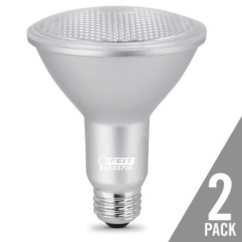 Feit Electric PAR30 Dimmable LED, Long Neck, Gen 11, 75W Equivalent,  CRI 90, 3000K, 2 Pk