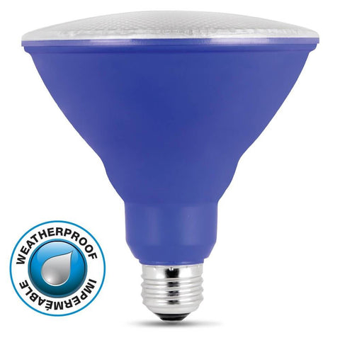 Feit Electric LED Blue Color, PAR38 Reflector, 10 Year, 11K