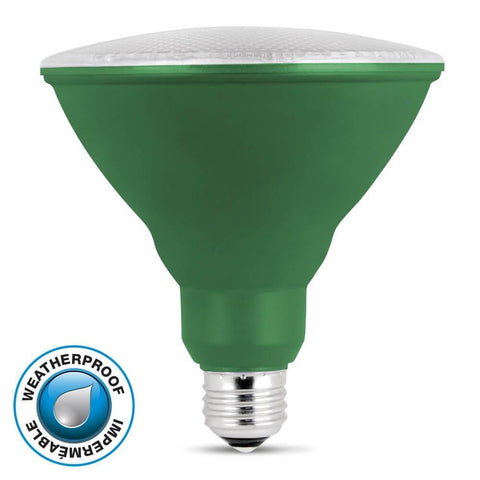 Feit Electric LED Green Color, PAR38 Reflector, 10 Year, 11K
