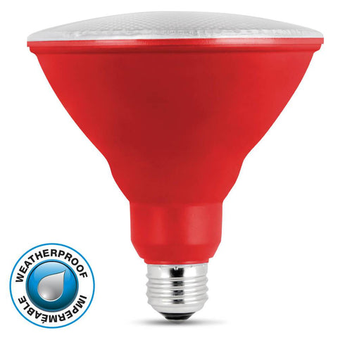 Feit Electric LED Red Color, PAR38 Reflector, 10 Year, 11K
