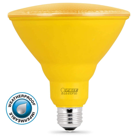 Feit Electric LED Yellow Color, PAR38 Reflector, 10 Year, 11K