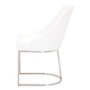 Parissa Dining Chair, Set of 2 - White Leather
