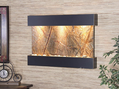 Reflection Creek - Blackened Copper - Brown Marble