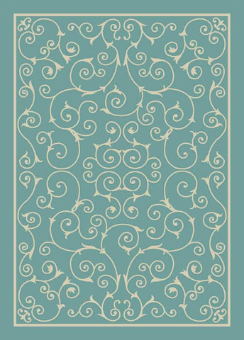 Home & Garden Light Blue Indoor/Outdoor Rug 5 Size Options