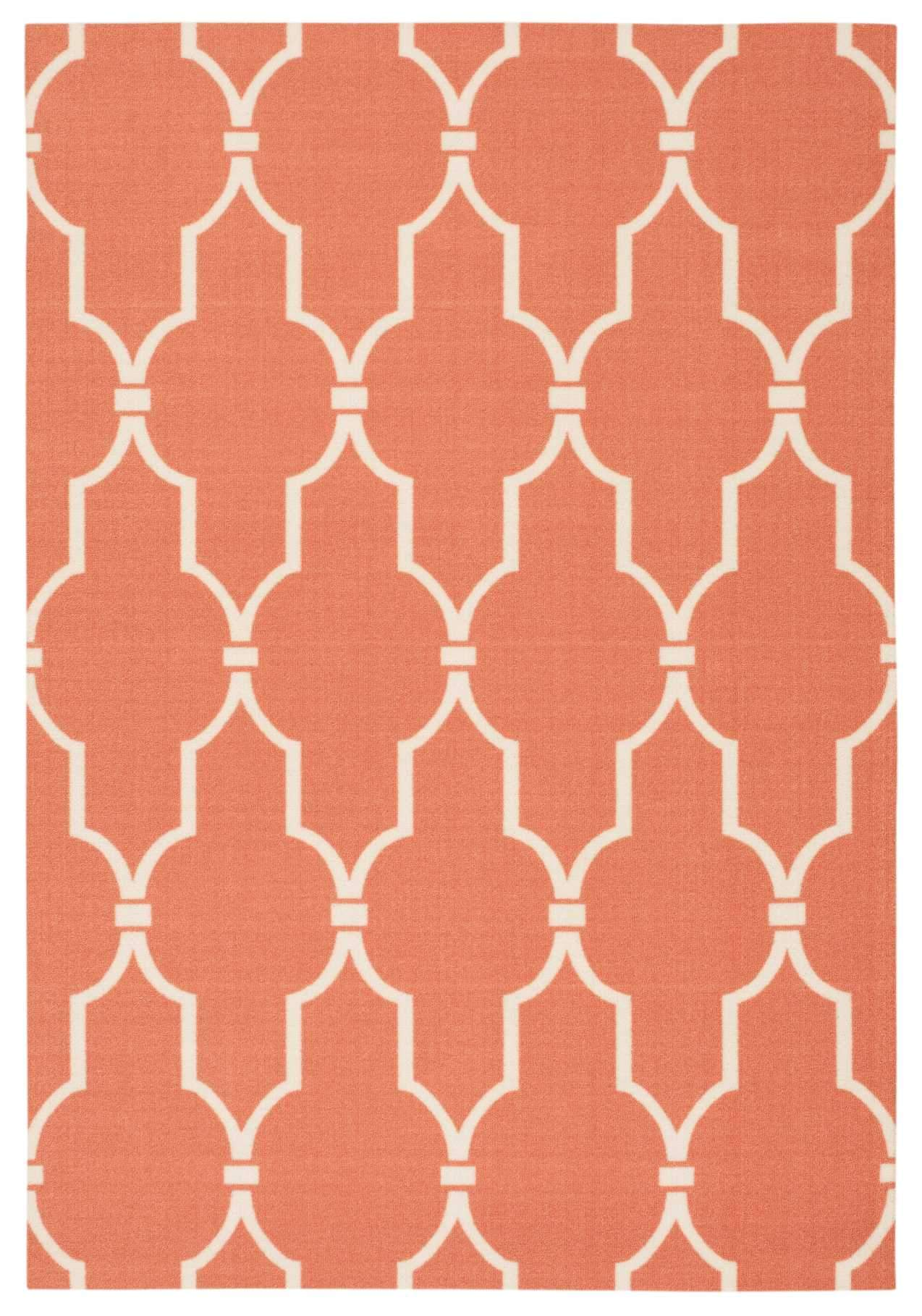 "Home & Garden Orange Indoor/Outdoor Rug - 4 Size Options Rugs Nourison 4'4"" x 6'3"" Accent"