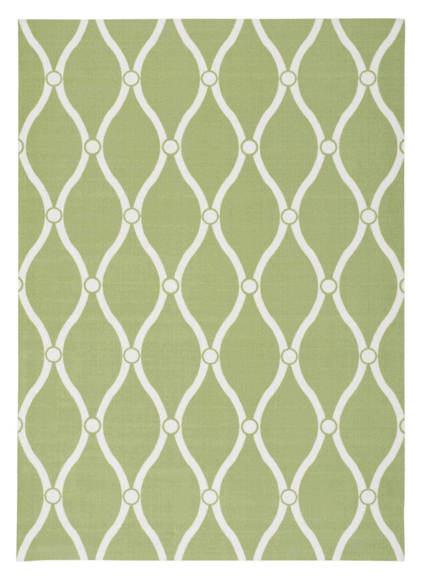 "Home & Garden Green Indoor/Outdoor Rug - 4 Size Options Rugs Nourison 4'4"" x 6'3"" Accent"