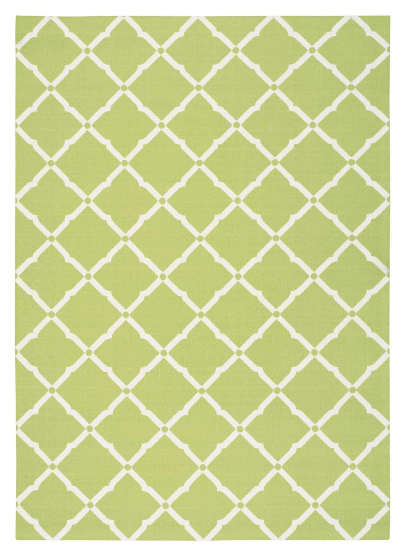 "Home & Garden Light Green Indoor/Outdoor Rug - 4 Size Options Rugs Nourison 4'4"" x 6'3"" Accent"