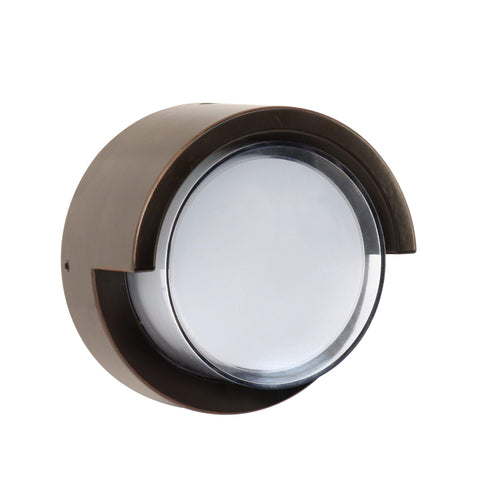 "5""w LED Round Bronze Wall Light with Dusk To Dawn - 5000K"