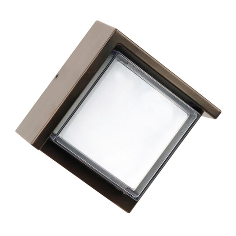 "5""w LED Square Bronze Wall Light with Dusk To Dawn - 5000K"