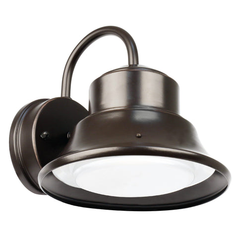 "8""w LED Bronze Bell Yard Light with Dusk To Dawn"
