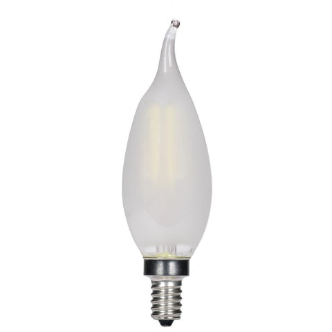 SATCO 3.5 Watt Cfc LED - Frosted - Candelabra Base - 2700k
