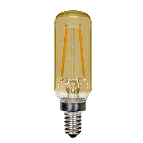 SATCO 2.5 Watt T6 LED - Amber - Candelabra Base - 2700k