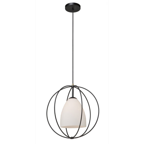 Dewdrop 17 in. wide Black Pendant