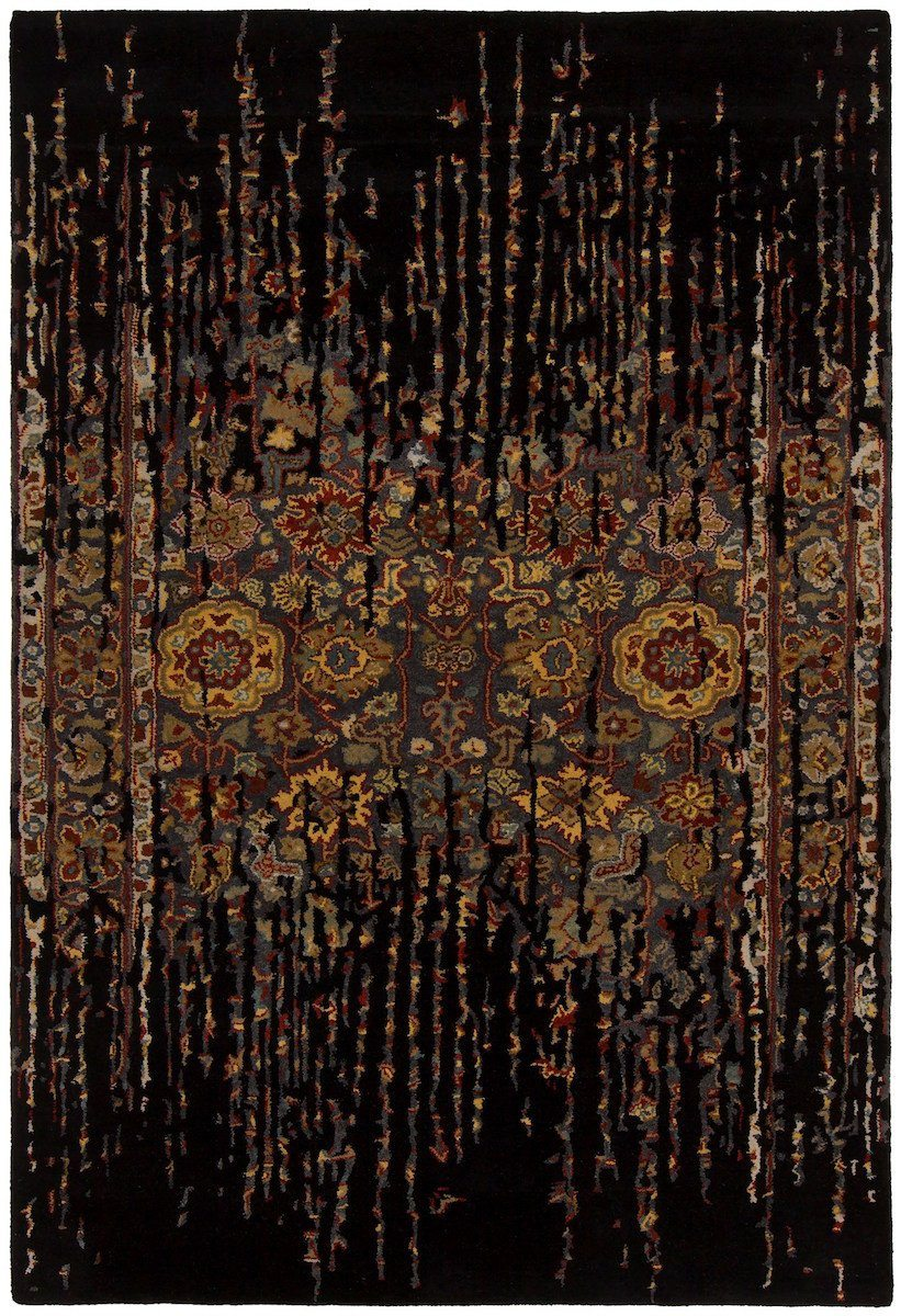 Spring 29101 7'9x10'6 Black Rug Rugs Chandra Rugs