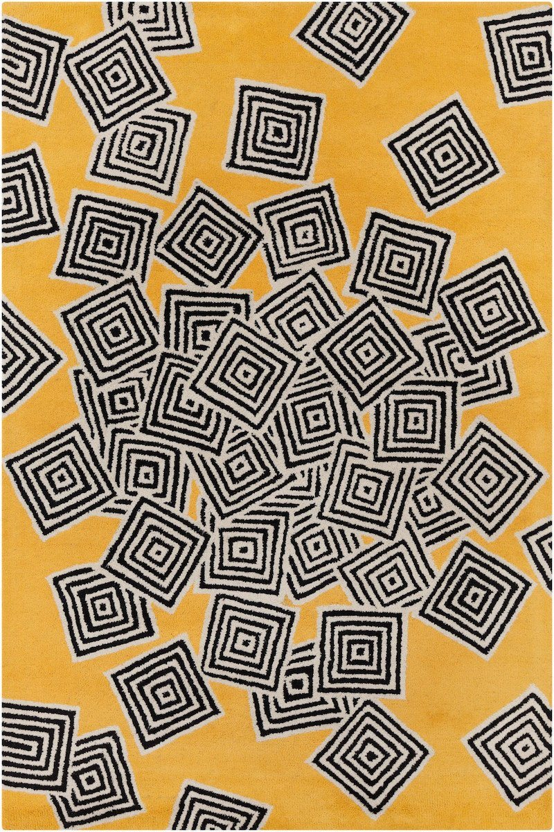 Stella 52215 5'x7'6 Yellow Rug Rugs Chandra Rugs