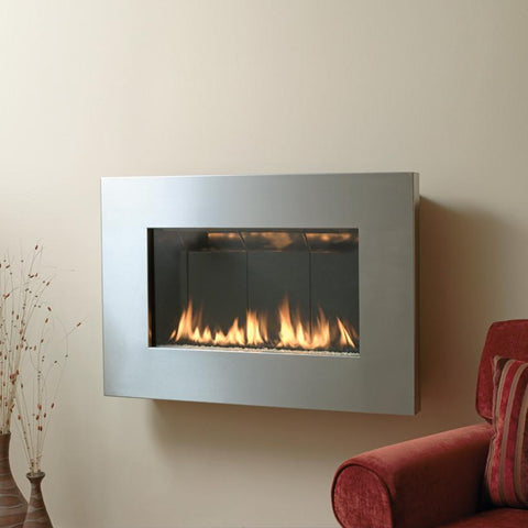 "Spark Fire Ribbon Direct Vent Slim 26"" Stainless - Natural Gas"