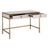 Strand Shagreen Desk - White
