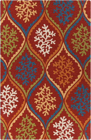 Terra 35106 5'x7'6 Red Rug Rugs Chandra Rugs