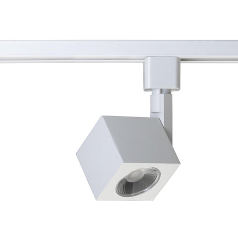 1 Light - LED - 12W Track Head - Square - White - 36 Deg. Beam