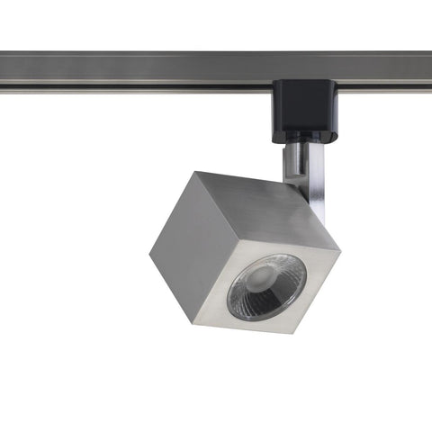 1 Light - LED - 12W Track Head - Square - Brushed Nickel - 36 Deg. Beam
