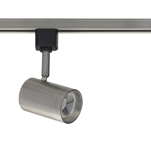 1 Light - LED - 12W Track Head - Small Cylinder - Brushed Nickel - 24 Deg. Beam