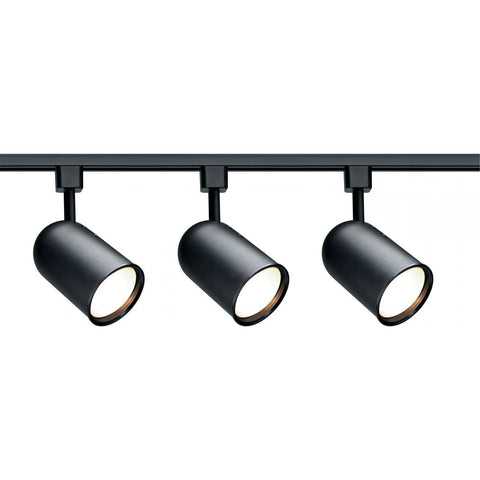 3 Light R30 Bullet Cylinder Track Kit - Black Tracks Nuvo Lighting Black